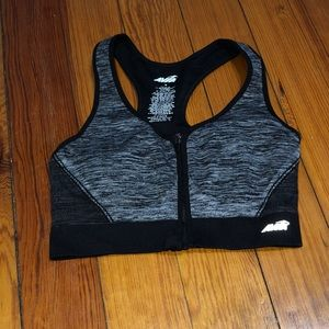 Zip up sports bra